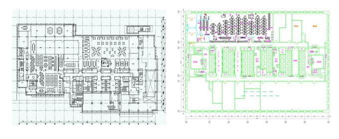 建築設備 家具配置図作成