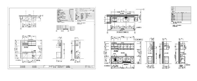 建築設備 キッチン・便所配置図作成