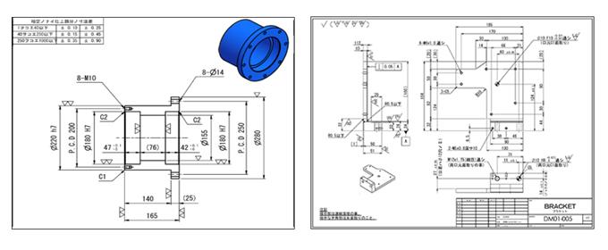 機械設備 部品展開図